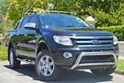 2015 Ford Ranger PX XLT Double Cab Black 6 Speed Sports Automatic Utility Medindie Walkerville Area Preview