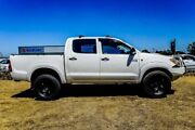 2008 Toyota Hilux KUN26R MY08 SR White 5 Speed Manual Utility Wangara Wanneroo Area Preview
