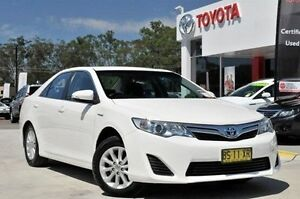 2012 Toyota Camry AVV50R Hybrid H Diamond White Continuous Variable Sedan Lisarow Gosford Area Preview