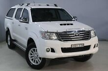 2013 Toyota Hilux KUN26R MY14 SR5 (4x4) White 5 Speed Automatic Dual Cab Pick-up Aberdare Cessnock Area Preview