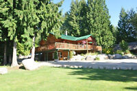 Salmon Arm -  Shops, shops, shops  with a renovated log home