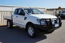 2012 Ford Ranger PX XL Super Cab White 6 Speed Manual Cab Chassis Pearsall Wanneroo Area Preview
