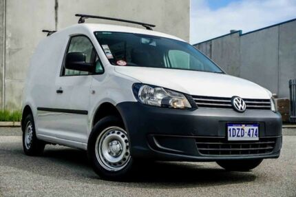 2012 Volkswagen Caddy 2KN MY13 TSI160 SWB White 5 Speed Manual Van