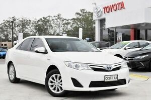 2013 Toyota Camry AVV50R Hybrid H White Continuous Variable Sedan Lisarow Gosford Area Preview