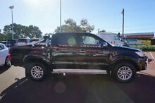 2013 Toyota Hilux KUN26R MY12 SR5 Double Cab Black 5 Speed Manual Utility Balcatta Stirling Area Preview