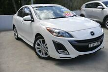 2009 Mazda 3  White Auto Seq Sportshift Sedan Meadowbank Ryde Area Preview