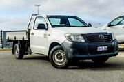 2012 Toyota Hilux TGN16R MY12 Workmate White 5 Speed Manual Cab Chassis Wangara Wanneroo Area Preview