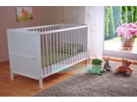 Baby Cot -Toddler- Child Bed White