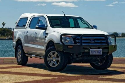 2013 Ford Ranger PX XLT Double Cab White 6 Speed Manual Utility Bunbury Bunbury Area Preview