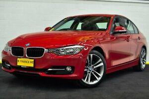 2013 BMW 320i F30 MY0813 Red/Black 8 Speed Sports Automatic Sedan