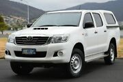 2014 Toyota Hilux KUN26R MY14 SR Double Cab White 5 Speed Manual Utility Derwent Park Glenorchy Area Preview