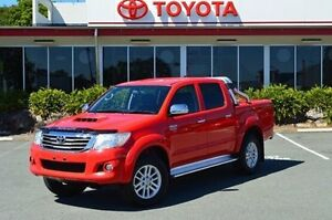 2014 Toyota Hilux KUN26R MY14 SR5 Double Cab Red 5 Speed Automatic Utility Highland Park Gold Coast City Preview