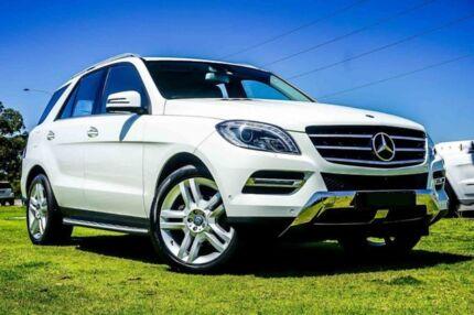 2014 Mercedes-Benz ML250 W166 MY805 BlueTEC 7G-Tronic + White 7 Speed Sports Automatic Wagon
