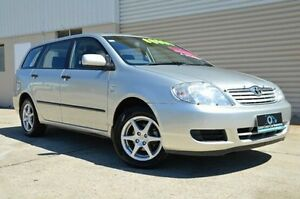 2004 Toyota Corolla ZZE122R Ascent Silver 5 Speed Manual Wagon Ashmore Gold Coast City Preview
