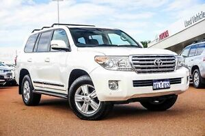 2014 Toyota Landcruiser VDJ200R MY13 Sahara White 6 Speed Sports Automatic Wagon Westminster Stirling Area Preview