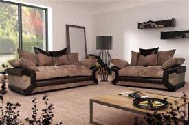 Furniture Sale-ITALIAN JUMBO CORD FABRIC-BRAND NEW DINO JUMBO CORD CORNER OR 3 & 2 SOFA
