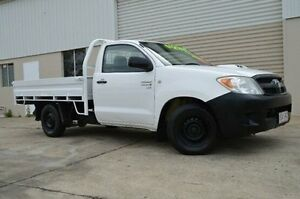 2005 Toyota Hilux White Manual Cab Chassis Ashmore Gold Coast City Preview