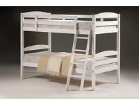 BRAND-NEW SINGLE CONVERTABLE HONEY WHITE OR OAK BUNK BED NEXT DAY DELIVERY