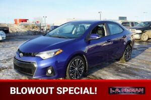 2014 Toyota Corolla S SPORT Leather,  Heated Seats,  Sunroof,  B