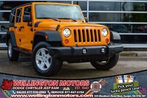 2012 Jeep Wrangler Unlimited Sport / Trailer Tow Group / Alpine