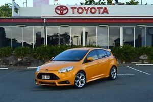 2012 Ford Focus LW MKII ST Yellow 6 Speed Manual Hatchback Highland Park Gold Coast City Preview
