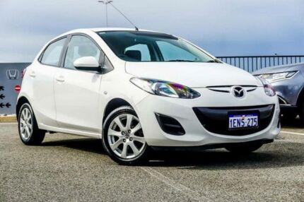 2014 Mazda 2 DE MY14 Neo Sport White 5 Speed Manual Hatchback Wangara Wanneroo Area Preview