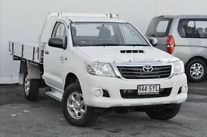 2012 Toyota Hilux KUN26R MY12 SR White 5 Speed Manual Cab Chassis Tweed Heads South Tweed Heads Area Preview