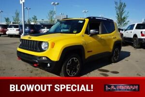 2017 Jeep Renegade 4X4 TRAILHAWK Accident Free,  Back-up Cam,  B