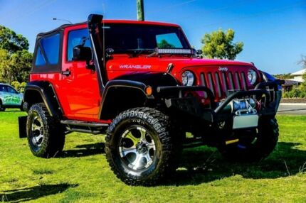 2011 Jeep Wrangler JK MY2011 Sport Red 4 Speed Automatic Softtop Wangara Wanneroo Area Preview