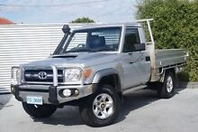 2007 Toyota Landcruiser VDJ79R GXL Silver 5 Speed Manual Cab Chassis South Launceston Launceston Area Preview