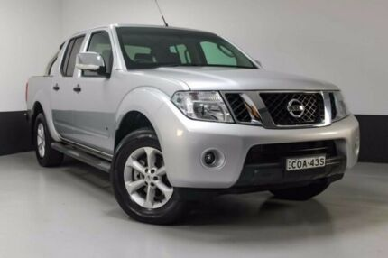 2013 Nissan Navara D40 S5 MY12 ST-X 550 Silver 7 Speed Sports Automatic Utility
