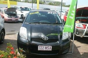 2009 Toyota Yaris NCP90R MY10 YR Black 4 Speed Automatic Hatchback Westcourt Cairns City Preview