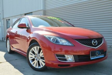 2008 Mazda 6 GH1051 Classic Red 5 Speed Sports Automatic Hatchback Ashmore Gold Coast City Preview