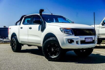 2015 Ford Ranger PX XLS 3.2 (4x4) White 6 Speed Automatic Dual Cab Utility Wangara Wanneroo Area Preview