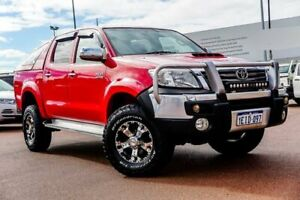2013 Toyota Hilux KUN26R MY12 SR5 Double Cab Red 4 Speed Automatic Utility