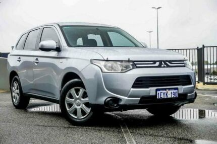 2012 Mitsubishi Outlander ZJ ES (4x2) Silver Continuous Variable Wagon Wangara Wanneroo Area Preview