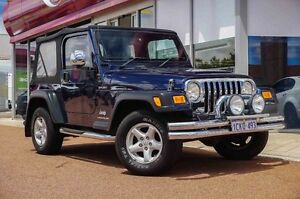 2006 Jeep Wrangler TJ MY2006 Sport Blue 6 Speed Manual Softtop Glendalough Stirling Area Preview