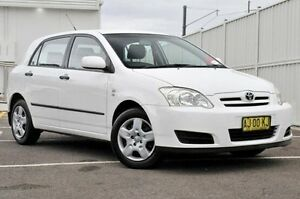 2006 Toyota Corolla ZZE122R 5Y Ascent White 5 Speed Manual Hatchback North Gosford Gosford Area Preview