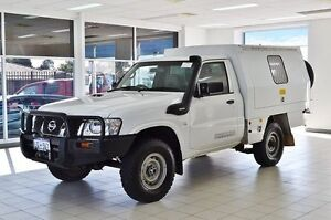2010 Nissan Patrol GU MY08 ST (4x4) White 5 Speed Manual Cab Chassis Morley Bayswater Area Preview