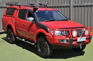 2014 Mitsubishi Triton MN MY15 GLX-R Double Cab Red 5 Speed Sports Automatic Utility Knoxfield Knox Area Preview