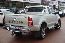 2012 Toyota Hilux KUN26R MY12 SR5 Xtra Cab Silver 5 Speed Manual Utility Wangara Wanneroo Area Preview