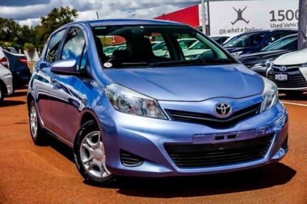 2012 Toyota Yaris NCP130R YR Blue 4 Speed Automatic Hatchback Westminster Stirling Area Preview
