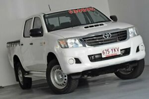 2015 Toyota Hilux KUN26R MY14 SR Double Cab White 5 Speed Automatic Utility Albion Brisbane North East Preview