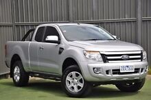 2013 Ford Ranger PX XLT Super Cab Silver 6 Speed Sports Automatic Utility Wantirna South Knox Area Preview