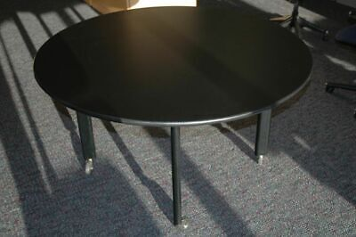 Knoll Studio Joseph Durso 42 Round Table Jet Black Finish Home Office Dining