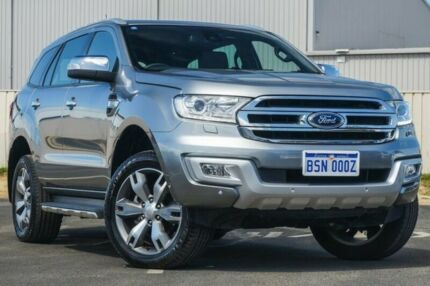 2015 Ford Everest UA Titanium 4WD Silver 6 Speed Sports Automatic Wagon