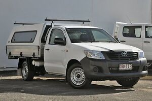 2013 Toyota Hilux TGN16R MY12 Workmate White 4 Speed Automatic Cab Chassis Tweed Heads South Tweed Heads Area Preview