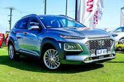 2017 Hyundai Kona OS MY18 Elite D-CT AWD Silver 7 Speed Sports Automatic Dual Clutch Wagon Osborne Park Stirling Area Preview