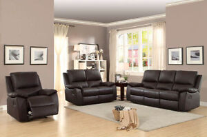 3 PIECE RECLINING SOFA SET !!!! $100 DELIVERY TO RED DEER !!!!!!