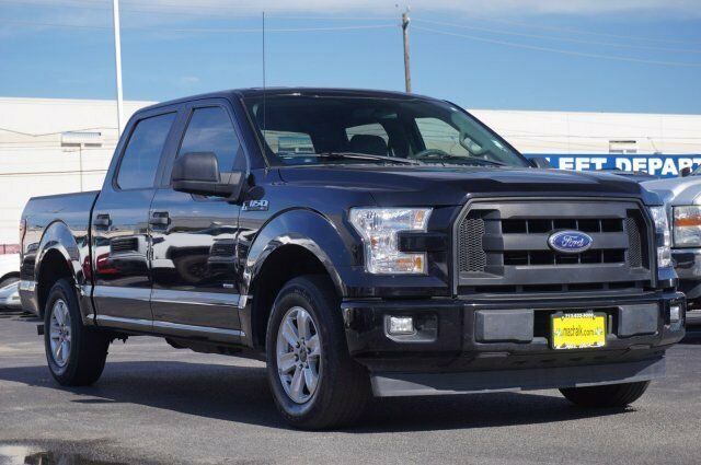 Owner 2017 Ford F-150 XL 58416 Miles Black Crew Cab Pickup Twin Turbo Regular Unleaded